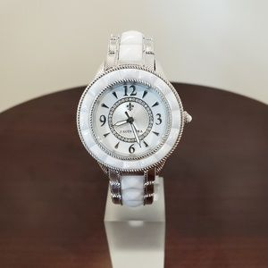 Judith Ripka White-Silver Ceramic-SS Watch